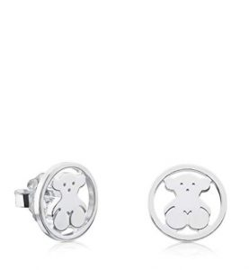 dbeba0bbaa8f PTOUS Pendientes de botón Mujer plata – 712163500